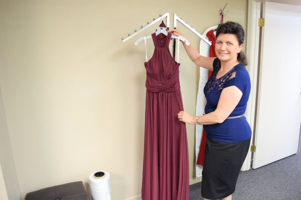 Nadia Stefak - alteration specialist and a dress